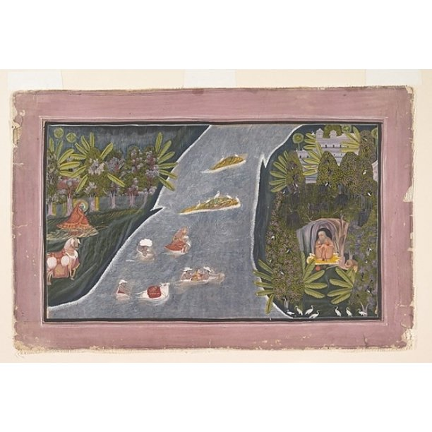 Radha Crosses A River To Interview A Hindu Sage Poster