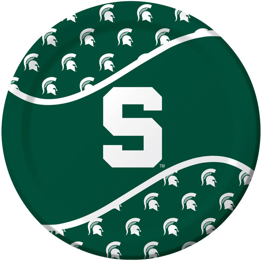 Michigan State Spartans Plates, 8-Pack