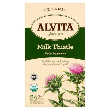 Alvita Lait bio Sacs Thistle de thé, 2,54 oz, 24 pièces
