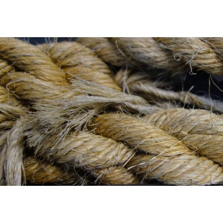 Canvas Print Ship Accessories Knot Dew Fixing Rope Hemp Rope Stretched Canvas 10 x 14