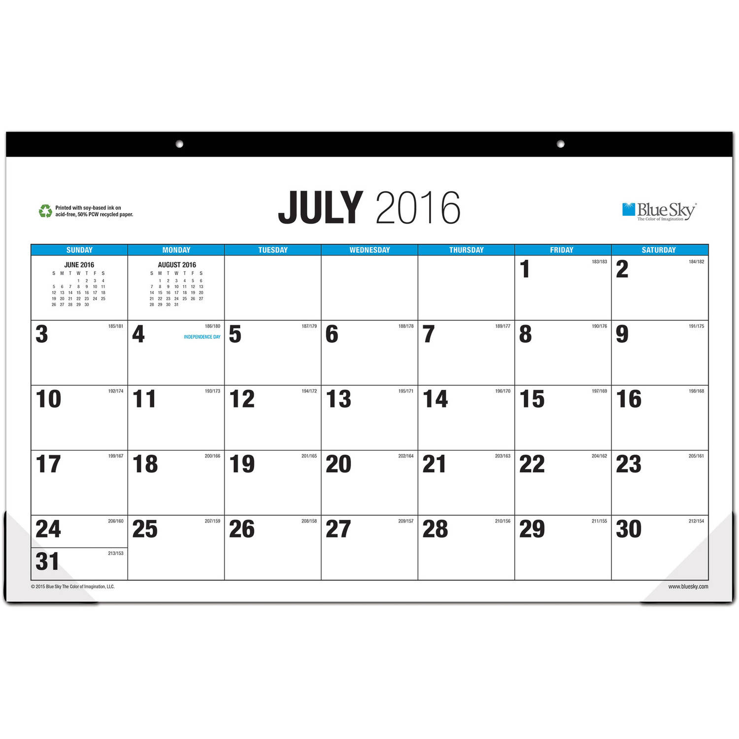 "The Big Picture by Blue Sky Academic Year 2016-2017 Monthly 17"" x 11"" Desk Pad Calendar"