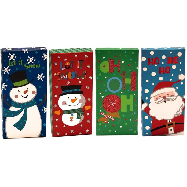 Christmas Money Check Gift Card Holder Boxes Set Of 4 Walmart Com Walmart Com