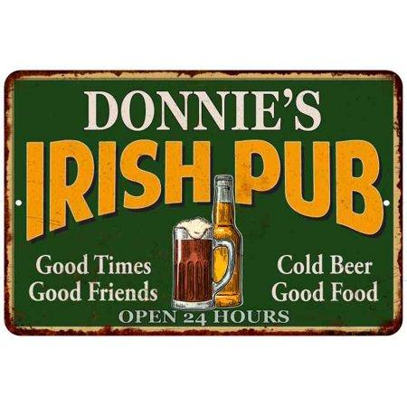 DONNIE'S Irish Pub Chic Sign Vintage Wall Décor 8x12 Metal Sign M8120013318