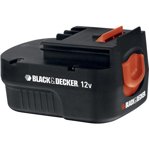 Black & Decker 12 Volt Spring Loaded Slide Pack Battery, HPB12