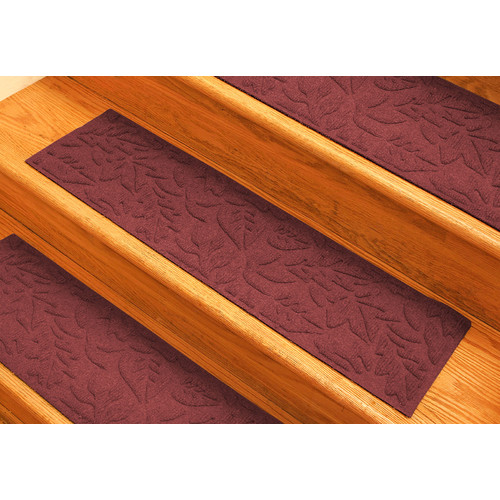 Bungalow Flooring Aqua Shield Red Fall Day Stair Tread (Set of 4)