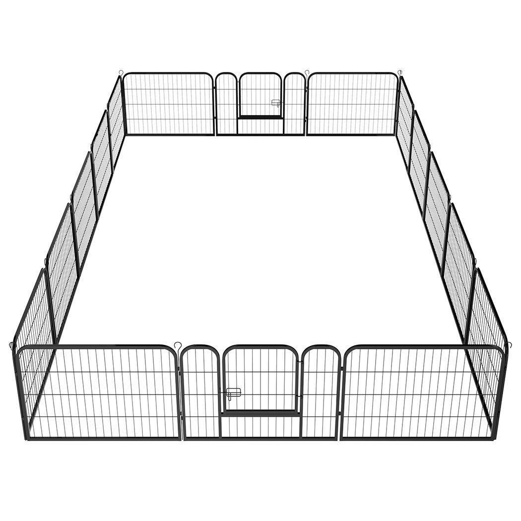 Pet Dog Cat Exercise Barrier Fence 16 Panel Large Metal C...