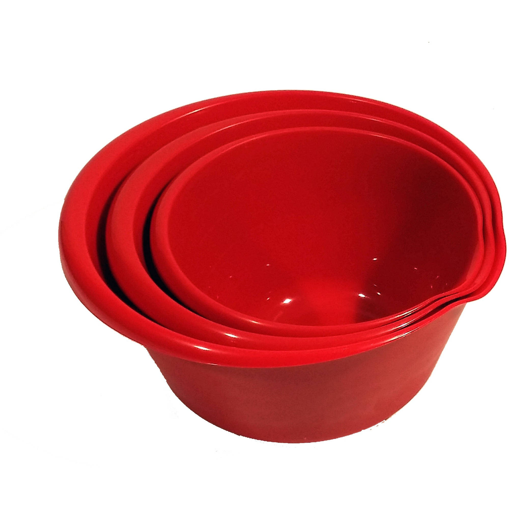 Mainstays 3-Piece Bowl Red