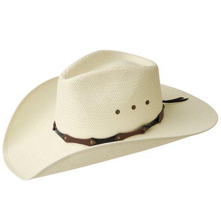 9581194f0684b Eddy Brothers Dobkins - Straw Cowboy Hat - Walmart.com