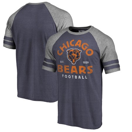 Chicago Bears NFL Pro Line by Fanatics Branded Timeless Collection Vintage Arch Tri-Blend Raglan T-Shirt - Navy