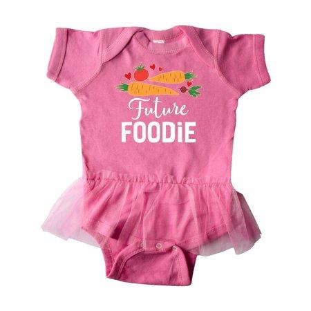 (Future Foodie Childs Veggies Food Infant Tutu Bodysuit)