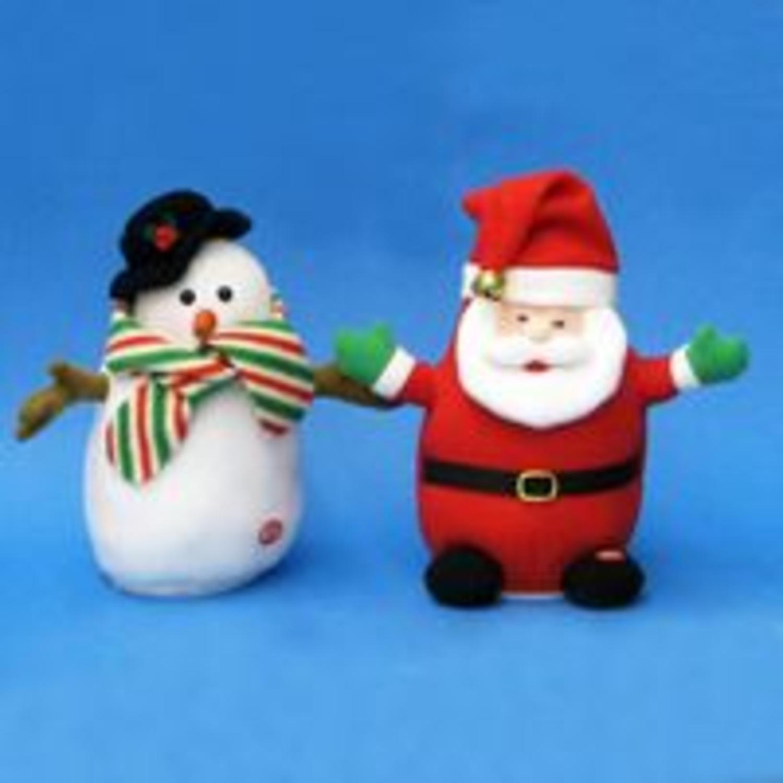 Set of 6 Battery Operated Santa & Snowman Shake, Laugh, & Fart Christmas Decor