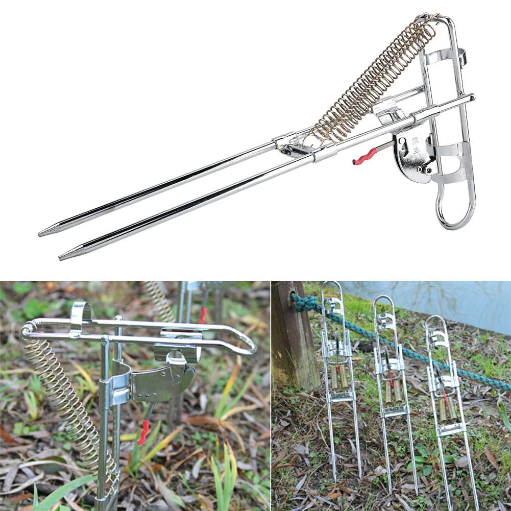 Stainless Steel Fishing Pole Tackle Holder Fishing Rod Bracket Ground Holder