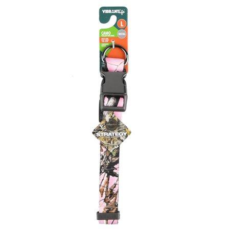 vibrant life dog collar pink camo large. Black Bedroom Furniture Sets. Home Design Ideas