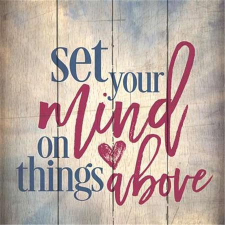 Artistic Reflections PA1067 14 x 14 in. Set Your Mind On Things Above Wood Pallet Design Wall Art Sign - Art Minds Wood