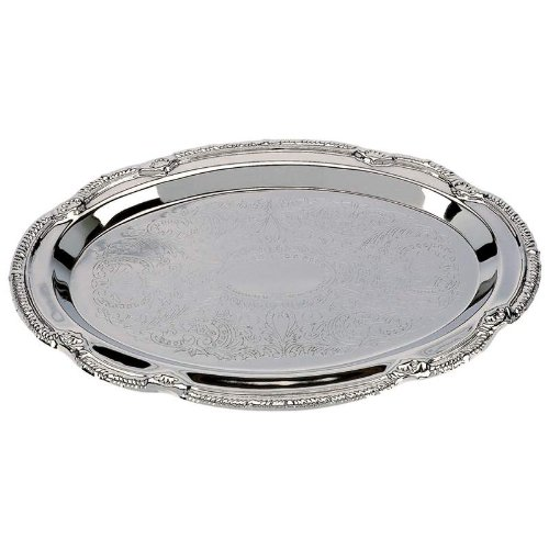 Sterlingcraft KT404S Silver Finish Serving Tray, NA