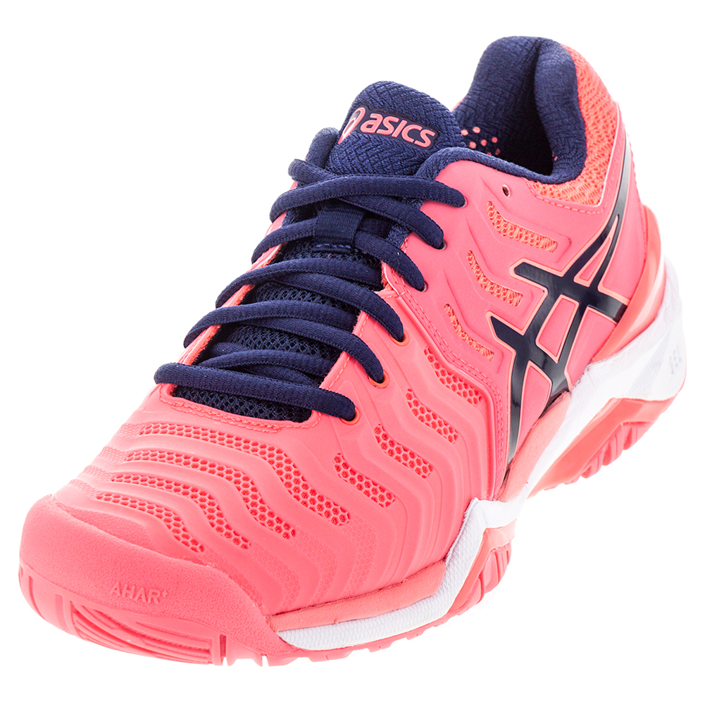 ASICS Women`s Gel Resolution 7 Tennis Shoes Diva Pink and Indigo Blue