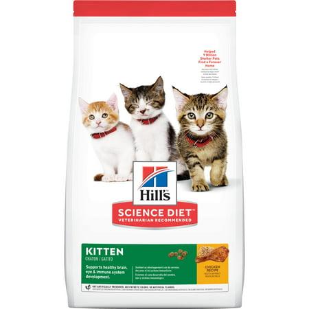 Hill's Science Diet Kitten Chicken Recipe Dry Cat Food, 15.5 lb