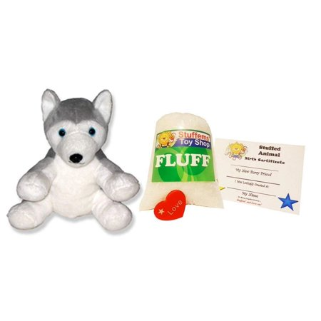 Make Your Own Stuffed Animal Mini 8 Inch Soft Husky Dog Kit - No Sewing - Make Your Own Dog
