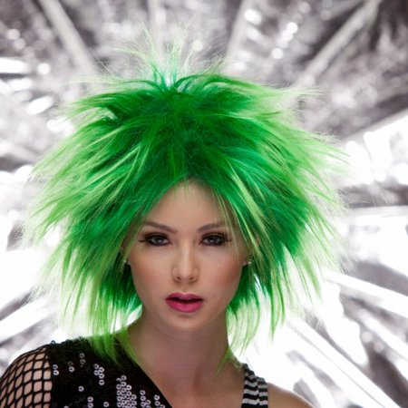 Blush PUNK Fantasy Style Synthetic Wig - Green Haze ()