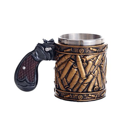 - Novelty Pistol Handle with Bullet Casings Coffee Mugs Gun Mugs Pistol Cup 11oz