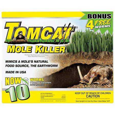 TOMCAT Mole Killer Worm Formula, 10pk