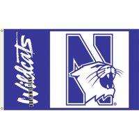 NORTHWESTERN WILDCATS 3'x5' FLAG