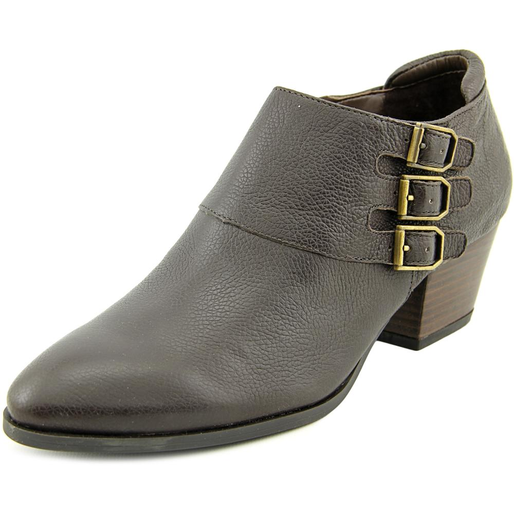 Franco Sarto Genna Round Toe Leather Bootie by Franco Sarto