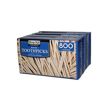 Daily Chef Round Toothpicks, 800 Pc