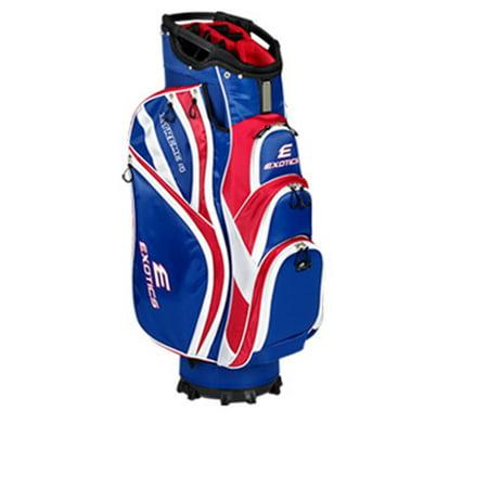New Tour Edge Exotics Xtreme 4 Red White Blue Golf Cart Bag