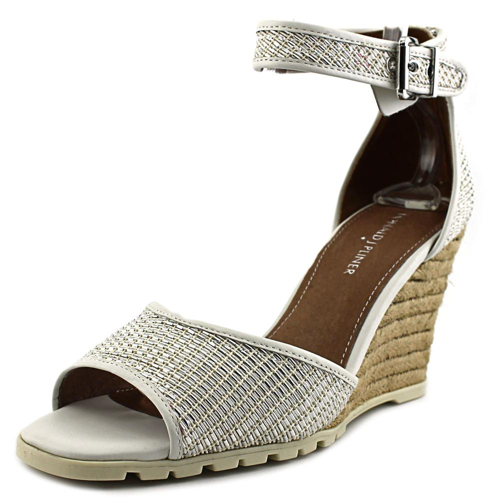 Donald J Pliner Brook Women Open Toe Leather Wedge Sandal by Donald J Pliner