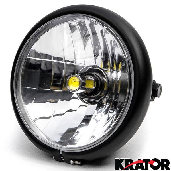 "KapscoMoto Krator 6"" Black LED Motorcycle Headlight w/ Si..."