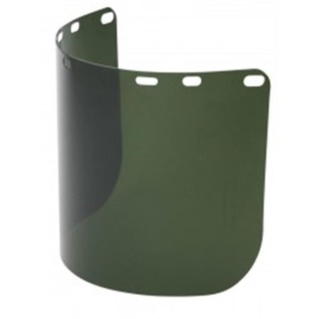 north safety 068-a8154g 8 x 15.5 in. faceshield green formed polycarbonate (8 Safety Green)