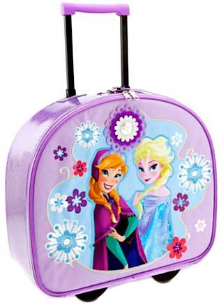 Disney Frozen Travel Suitcase Anna and  Elsa Sisters Forever Rolling Adjustable