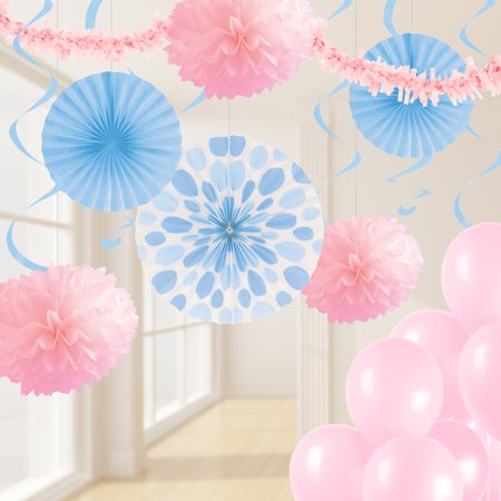 Pastel Pink and Blue Party Decorations Kit
