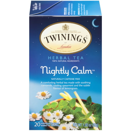 (6 Boxes) Twinings of London Nightly Calm Herbal Tea, 20 Ct