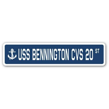 Uss Bennington Cvs 20 Street Sign Us Navy Ship Veteran Sailor Gift