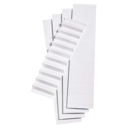 Esselte Az Durable 1/5 Cut - Pendaflex Blank Inserts for 1/5 Cut Hanging File Folders, 2 in, White, 100/Pack (242) - 1 PACK