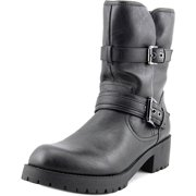 G by Guess Womens Minion2 Leather Closed Toe Mid-Calf Motorcycle Boots