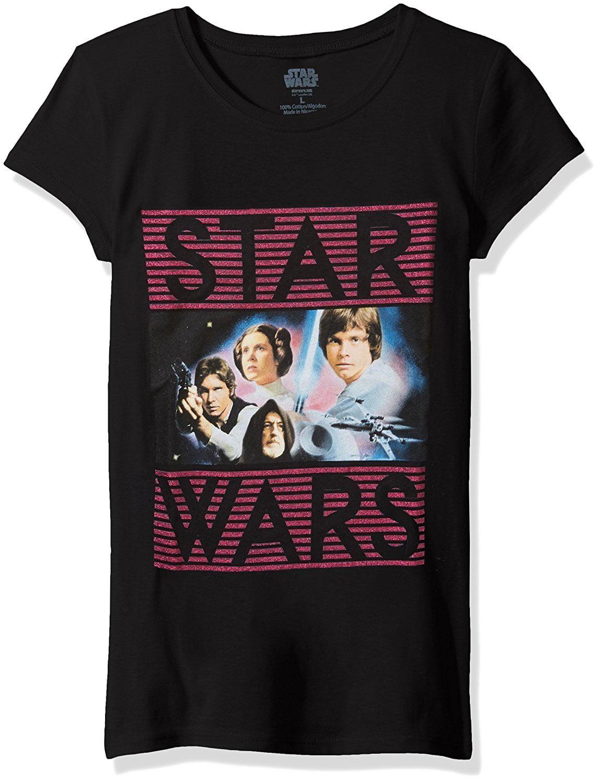 Star Wars Big Girls' Classic Character Group Graphic T-Shirt