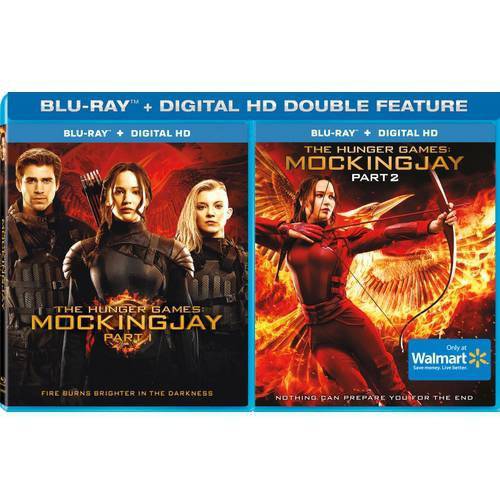 The Hunger Games: MockingJay, Part 1 And 2 (Blu-ray + Digital HD) (Walmart Exclusive)
