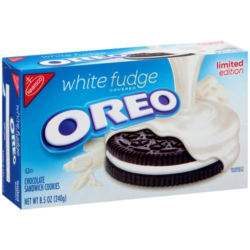 Oreo Pure White Fudge Covered Sandwich Cookies, 8.5 oz