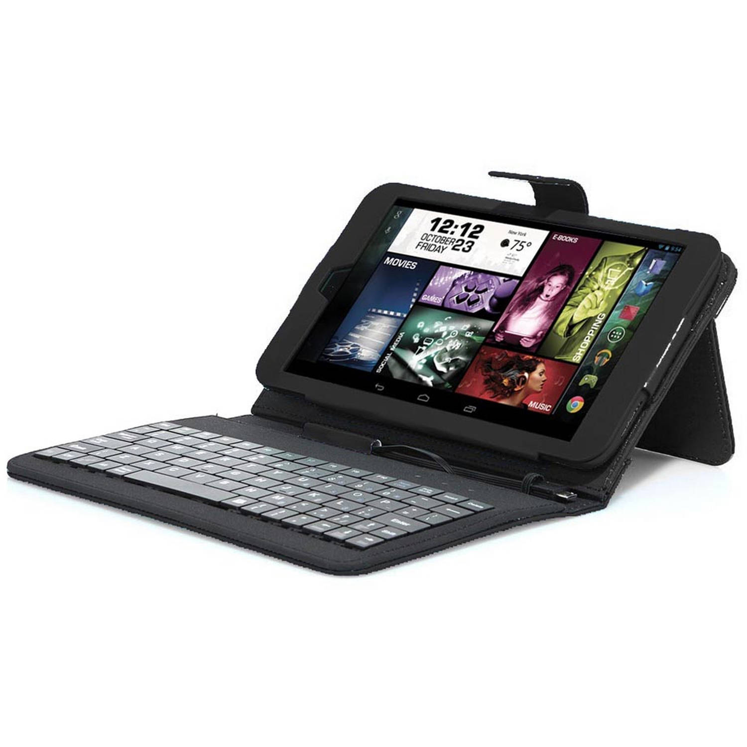"Visual Land Prestige Elite 8"" Tablet 16GB Quad Core Case Keyboard"
