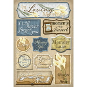 Cardstock Stickers-In Loving Memory