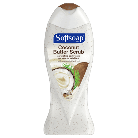 Softsoap, Coconut Butter, Exfoliating Body Wash, 15 Ounce