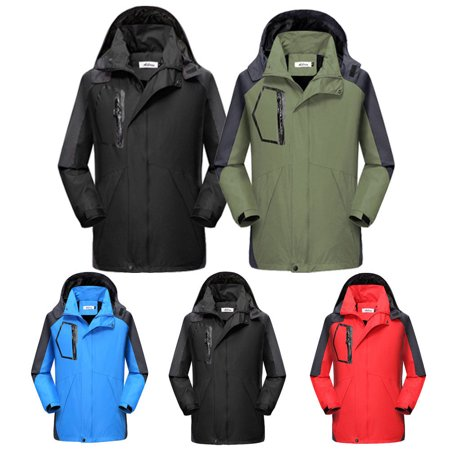 Mens Waterproof Hiking Jacket Coat Winter Ski Outdoor Sport Raincoat Hoodie