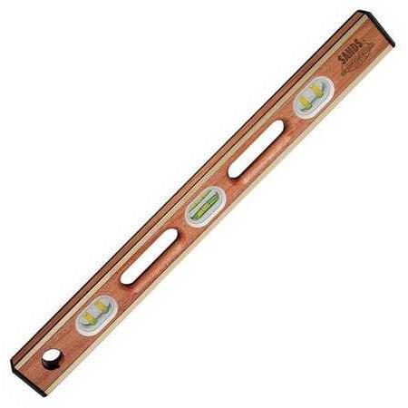 Kraft Tool Box Level, Mahogany, - Brass Bound Mahogany Level