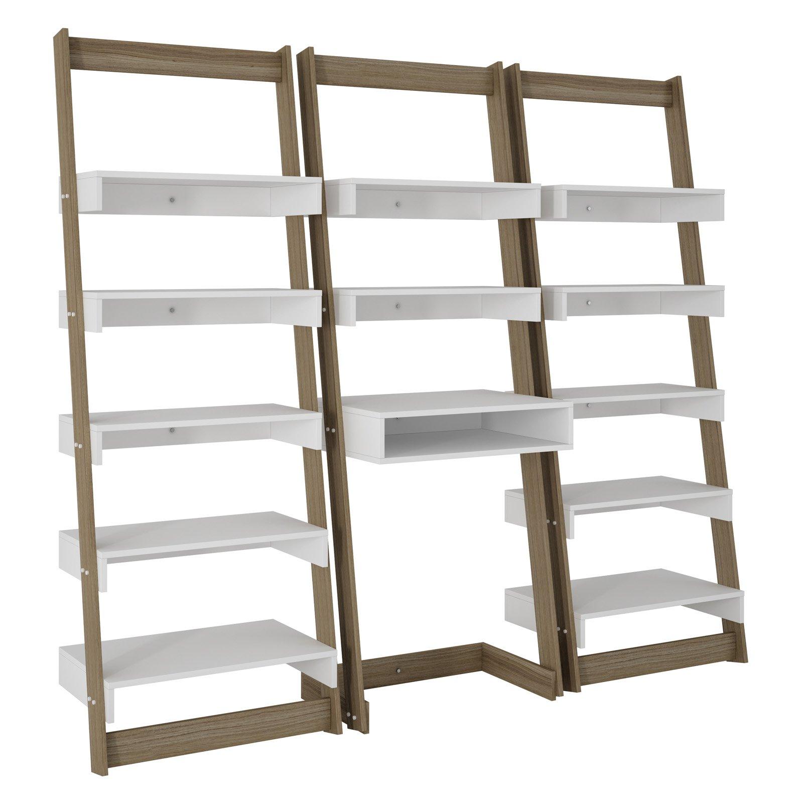 floating office desk. manhattan comfort 3 piece carpina home floating ladder shelf office desk walmartcom o
