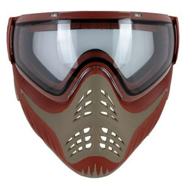 Vforce Profiler Red On Tan Paintball Mask With Thermal Lens Walmart Com Walmart Com