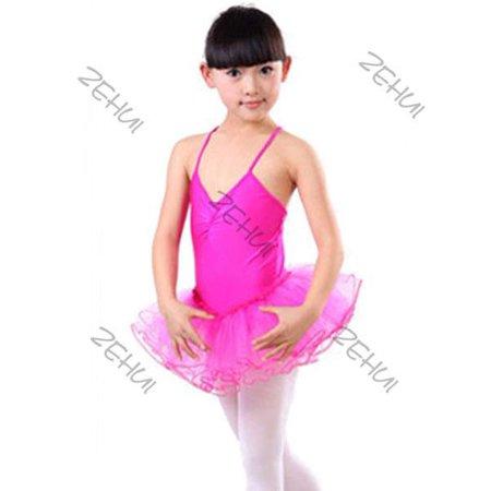f8050e79d EFINNY - Girls Kids Leotard Ballet Dance Dress Tutu Skirt Dancewear Costume  Age 3-12 Yrs - Walmart.com