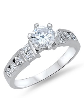 eefbef2dd Product Image Women's Solitaire Clear CZ Wedding Ring New .925 Sterling  Silver Band Size 5